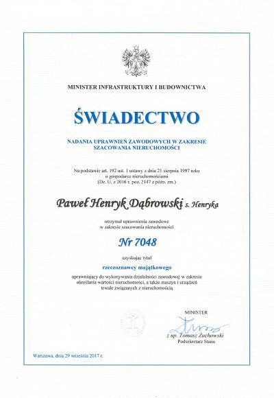 Rzeczoznawca Majątkowy Lublin Paweł Dąbrowski
